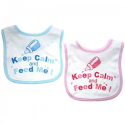 Slab Keep Calm and Feed Me roze of blauw