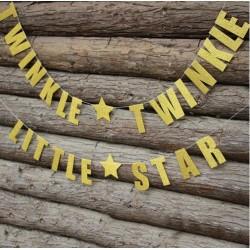 Gouden letterslinger Twinkle Twinkle Little Star