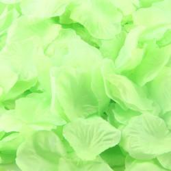 Aantrekkelijk geprijsd pak met 1000 rozenblaadjes licht groen
