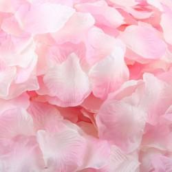 Aantrekkelijk geprijsd pak met 1000 rozenblaadjes licht roze