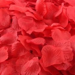 Aantrekkelijk geprijsd pak met 1000 rozenblaadjes rood