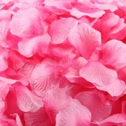 Aantrekkelijk geprijsd pak met 1000 rozenblaadjes roze